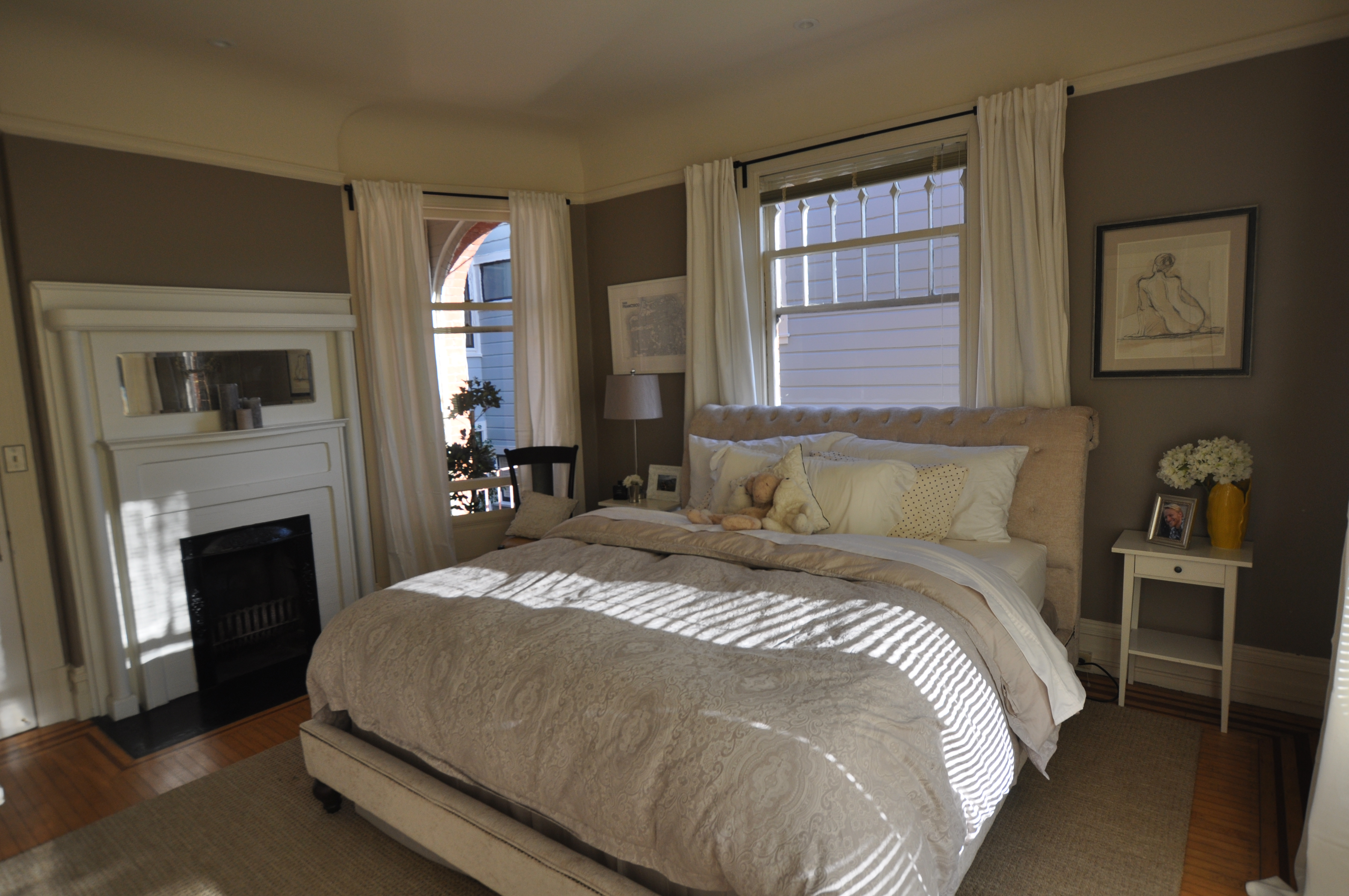 Duck Egg Blue And Taupe Bedroom Mark Cooper Research Grey And ..